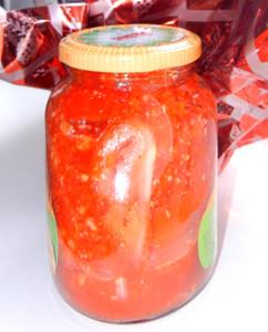 Острые помидоры. Яркая закуска.