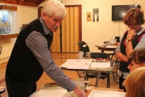Мастер-класс «мокрая акварель» в Выставочном зале на Покровской. (13.11 2014)
