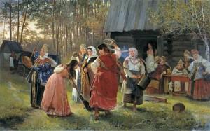 Исторические национальные обряды, сопровождающие заключение брака.