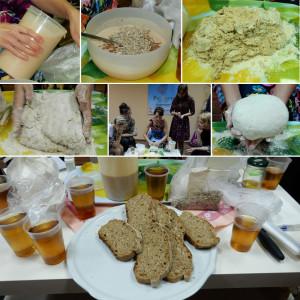Ржано-пшеничный хлеб на домашней закваске.
