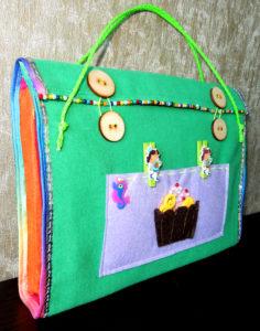 Сумка — органайзер для ребенка своими руками