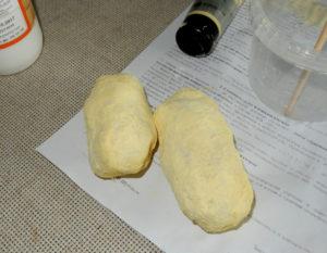 Простейший муляж вареной картошки своими руками