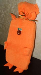 Мешок для упаковки новогоднего подарка «Поросенок»