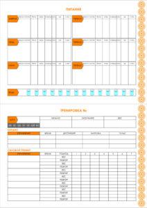 Шаблон фитнес – дневника