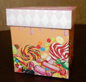 Коробочка с конфетами – предсказаниями. Шаблон. Шокобокс