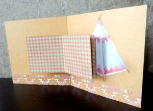 Открытка в открытке в два яруса (конструкция)