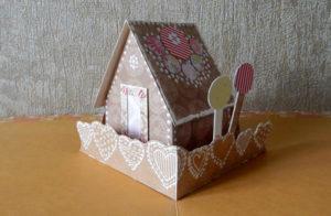 Домик с крышей «открывашка» в открытку или альбом