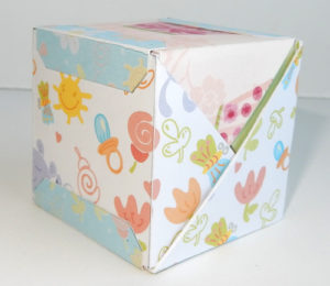 Простая упаковка – кубик из треугольников, своими руками