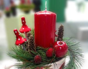 Оформление свечей в год Мыши