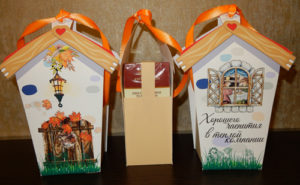 Упаковка «Домик» для коробочки с чаем