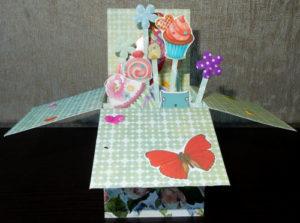 Объемная открытка – коробка