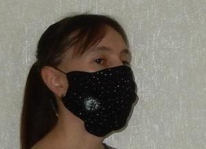 Многоразовая маска со съемным вкладышем своими руками