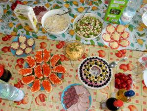 Меню для семейного праздника (на 8-10 человек)