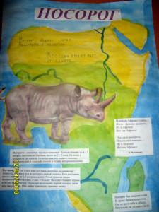 Плакат о носороге.