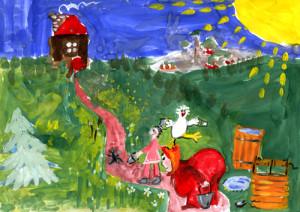 Рисунок к сказке «У страха глаза велики».