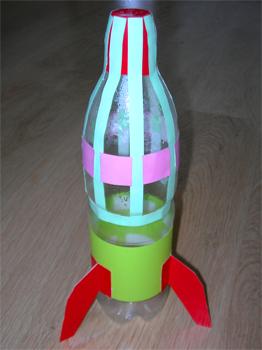 Ракета из бутылки своими руками поделка для детей пошагово