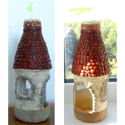 Домики из пластиковых бутылок своими руками 21