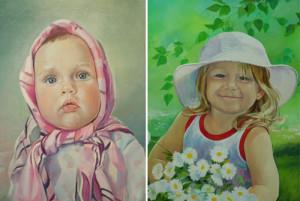 Портреты на заказ от художника Марии Бычковой.