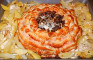 Горячее блюдо «Новогодняя корзиночка».