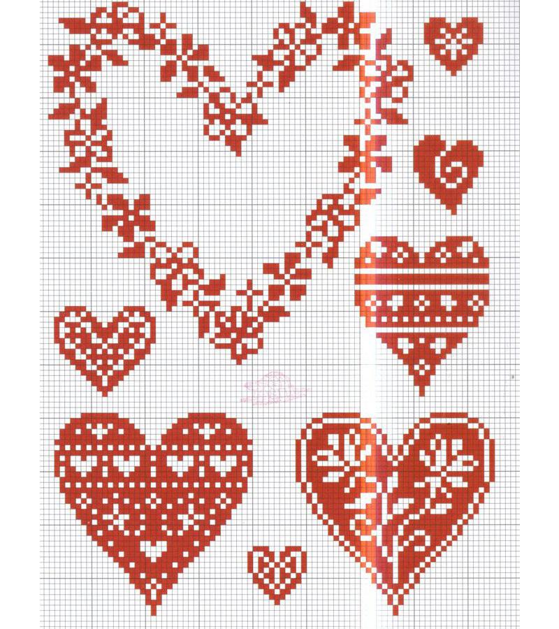 Вышивки на день святого валентина 17