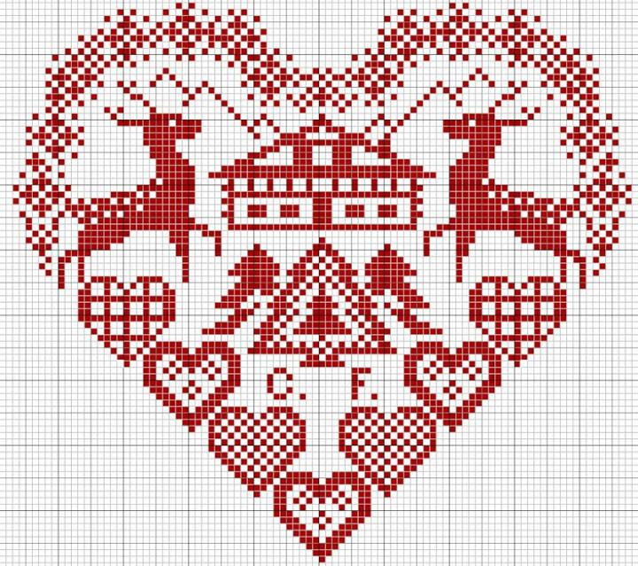 Сердечный год - бесплатные схемы для вышивки от aliola