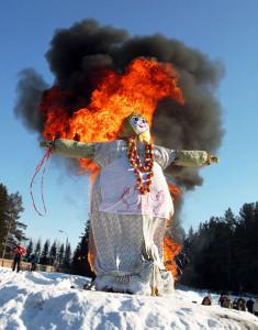 Правила безопасности по сжигаению Масленицы.