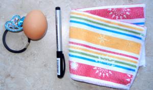 Оформление пасхального яйца «Зайка» за 1 минуту.