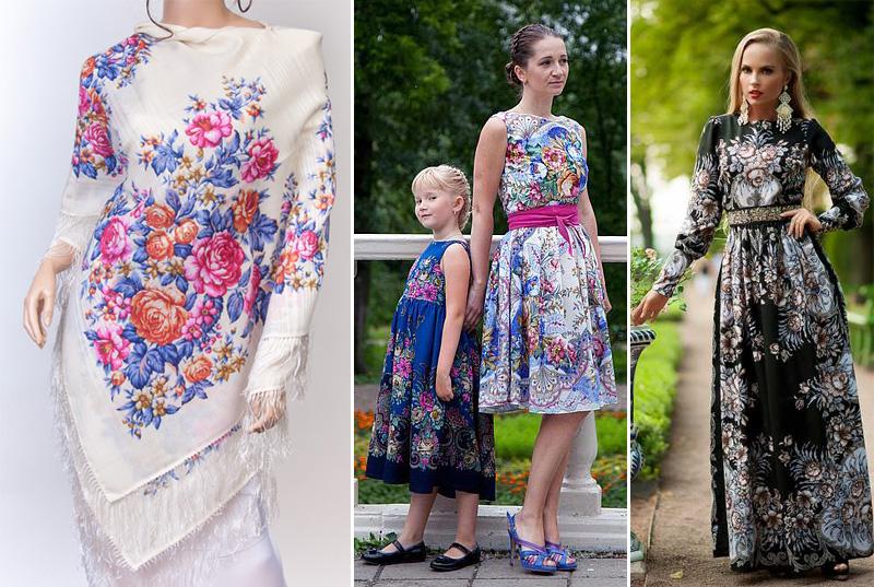 Платье Из Павлопосадских Платков Купить