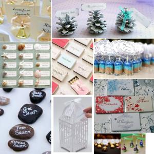 Карточки на свадебных столах для гостей