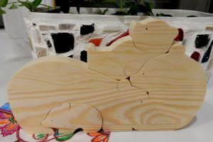 Декупаж деревянных паззлов