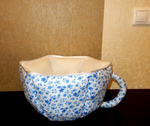 Чайная чашка из ткани