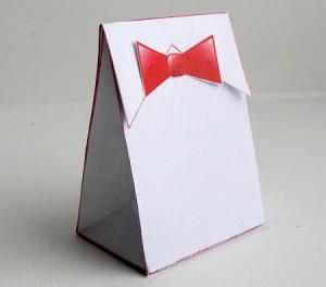 Упаковка «рубашка»  для маленького сувенира за 5 минут