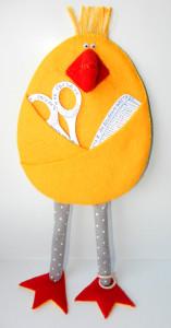Цыпленок-кармашек для мелочей (подарок к Пасхе)