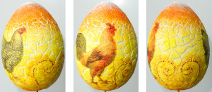 Сувенир к Пасхе. Декупаж деревянного яйца