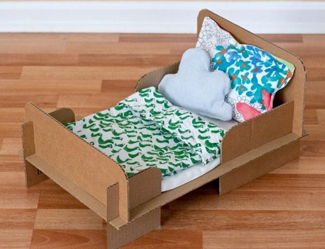 Картонная кровать своими руками