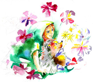 Сказка про девочку и ёжика