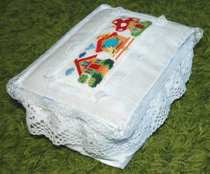 Коробочка из ткани