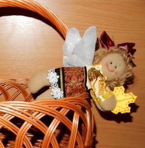 Осенний ангел из ткани