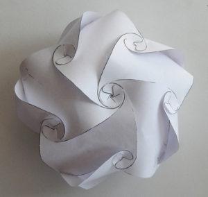 «Зефир» из бумаги на елочку