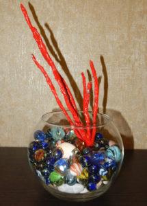 Простейший муляж красного коралла (не в аквариум к рыбкам!)