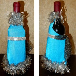 Новогодние фартуки для бутылок своими руками